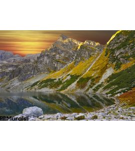 Taken Peak Color Sunset Wall Mural Wall Tapestry tapestries