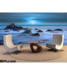 Evenig Sea Wall Mural Wall Tapestry tapestries