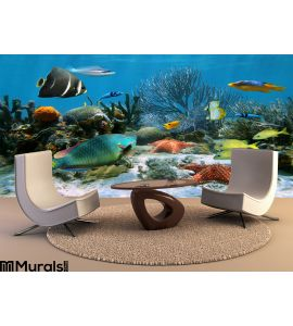 Coral Reef Starfish Wall Mural Wall Tapestry tapestries