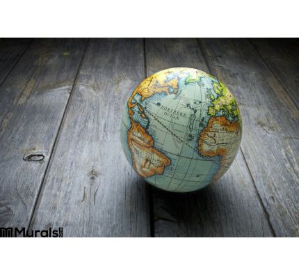 World Globe Wood Background Wall Mural Wall Tapestry tapestries