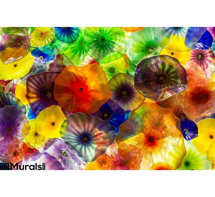 Abstract Glass Colors Wall Mural Wall Tapestry tapestries
