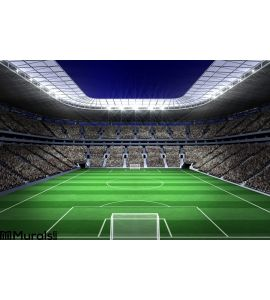 Large football stadium with lights Wall Mural Wall Tapestry tapestries