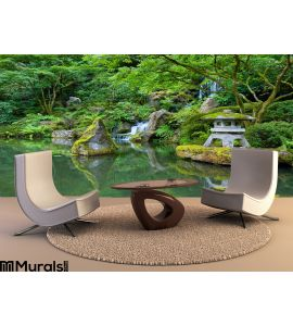 Portland Japanese Garden Wall Mural Wall Tapestry tapestries
