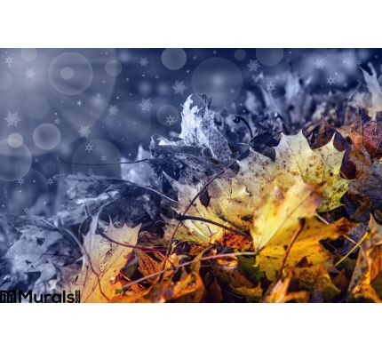 Abstract Transition Autumn To Winter Time Wall Mural Wall Tapestry tapestries