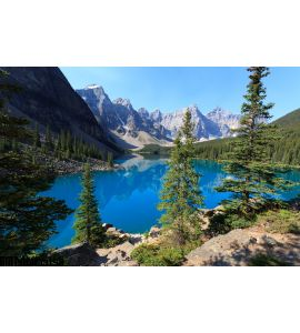 Moraine Lake Wall Mural Wall Tapestry tapestries