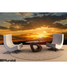 Sky Sunset Wall Mural Wall Tapestry tapestries