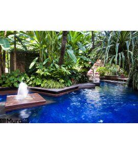 Tropical Swimming Pool Wall Mural