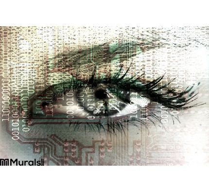 Cybernetic Eye Wall Mural Wall Tapestry tapestries