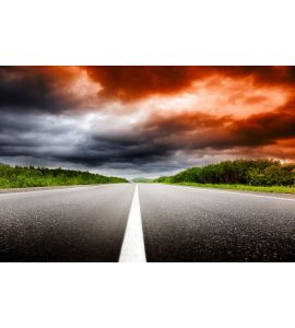 Sunset Road Wall Mural Wall Tapestry tapestries