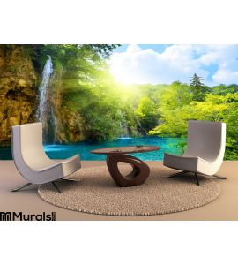 Waterfalls Forest Wall Mural Wall Tapestry tapestries