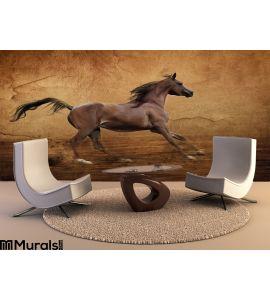 Runing Arabian Horse Wall Mural Wall art Wall decor