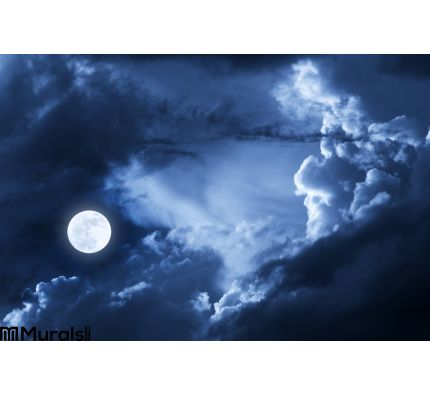 Dramatic Nighttime Clouds Sky Beautiful F Wall Mural Wall Tapestry tapestries