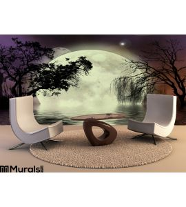 Moon Fairy Background Wall Mural Wall Tapestry tapestries