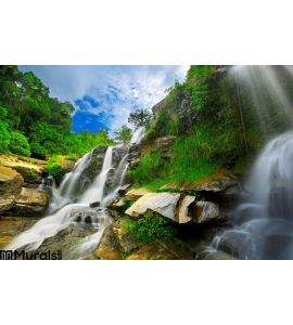 Waterfall Thai National Park Wall Mural