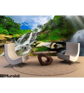 Waterfall Thai National Park Wall Mural Wall Tapestry tapestries