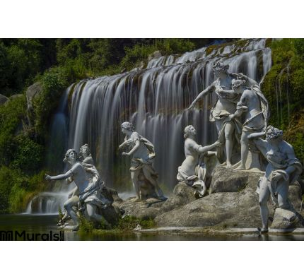 Caserta Royal Palace Statue Great Waterfall Wall Mural Wall Tapestry tapestries