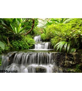 Waterfall Rain Forest Wall Mural