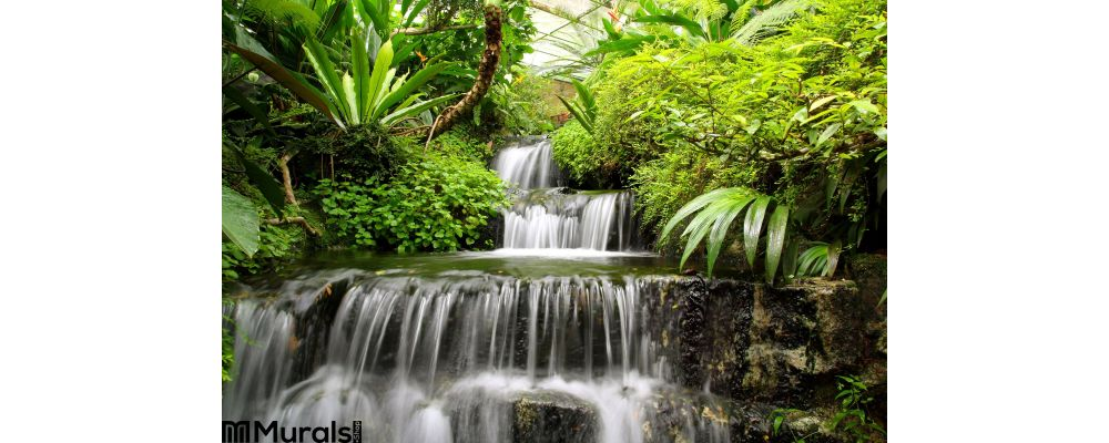 Waterfall Rain Forest Wall Mural
