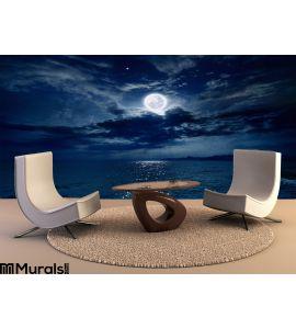 Full Moon Over Sea Wall Mural Wall art Wall decor