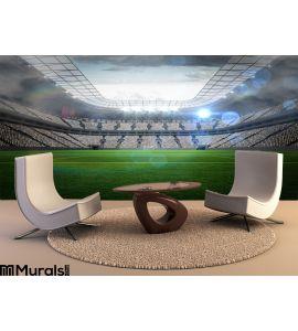 Large football stadium with lights Wall Mural Wall art Wall decor