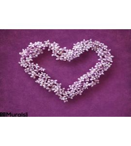 Floral heart shape Wall Mural