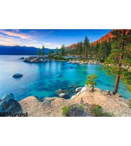 Lake Tahoe Sunset Wall Mural