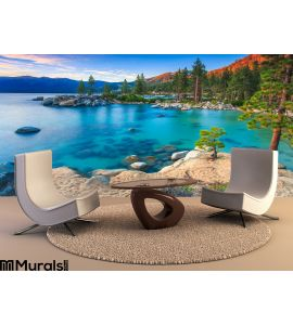 Lake Tahoe Sunset Wall Mural Wall art Wall decor