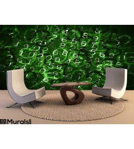 Coded Numbers Wall Mural Wall art Wall decor