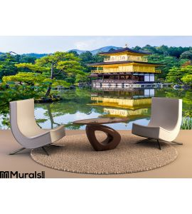 Kinkaku Ji Golden Pavilion Kyoto Japan Wall Mural Wall art Wall decor