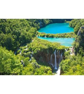 Plitvice National Park Waterfalls Croatia Wall Mural
