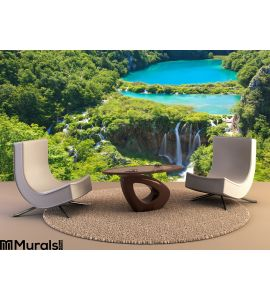 Plitvice National Park Waterfalls Croatia Wall Mural Wall art Wall decor