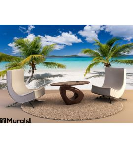 Palm Tree Tropical Island Beach Wall Mural Wall art Wall decor