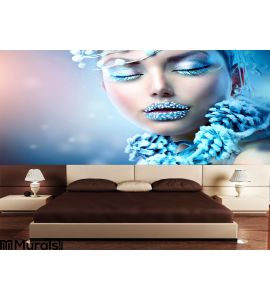 Winter Beauty Woman Wall Mural Wall art Wall decor