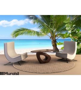 Tropical Beach Bay Wall Mural Wall art Wall decor