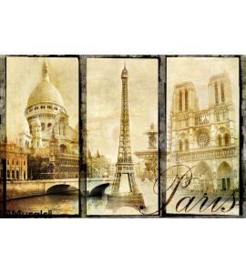 Old Paris Wall Mural Wall art Wall decor