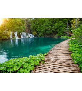 Waterfalls Pathway Plitvice National Park Croatia Wall Mural