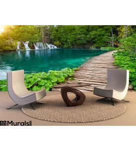 Waterfalls Pathway Plitvice National Park Croatia Wall Mural Wall art Wall decor