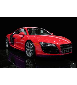 Sports Car Isolated Wall Mural
