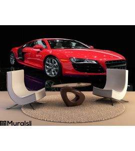 Sports Car Isolated Wall Mural Wall art Wall decor