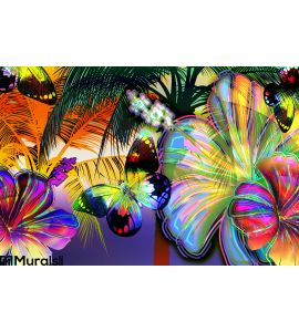 Sunset Beach Wall Mural Wall art Wall decor