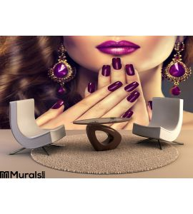 Luxury Fashion Style Nails Manicure Wall Mural Wall art Wall decor