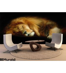 Sleep Lion Wall Mural Wall art Wall decor