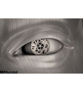 Mechanical Gears Inside Robot S Eye Wall Mural Wall art Wall decor