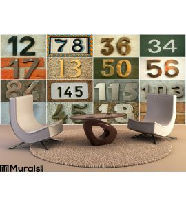 House Numbers Wall Mural Wall art Wall decor
