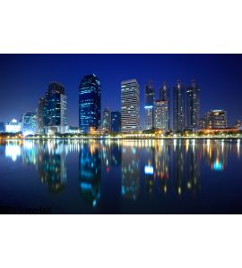 Panorama Bangkok City Night Thailand Wall Mural Wall art Wall decor