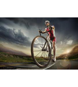 Sport Cyclist Wall Mural