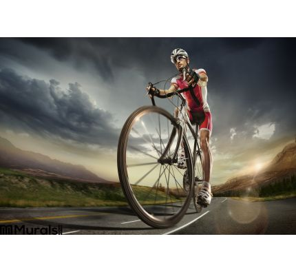 Sport Cyclist Wall Mural Wall art Wall decor