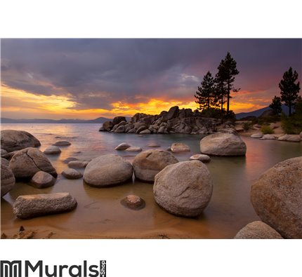 Tahoe Sunset 1 Wall Mural Wall art Wall decor