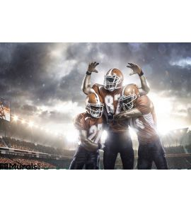 American Football Players Action Stadium Wall Mural