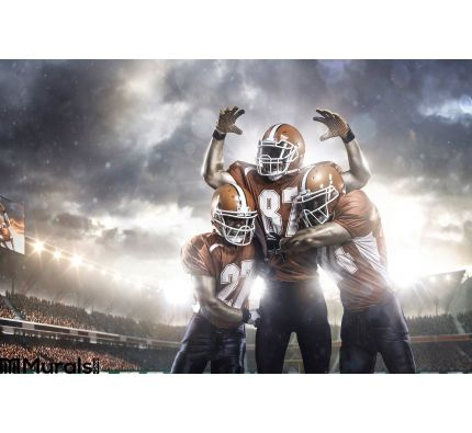 American Football Players Action Stadium Wall Mural Wall art Wall decor